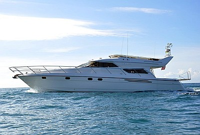 The Princess 60 is an elegant Flybridge yacht with 3 guest cabins including ...